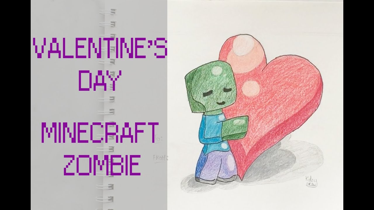 How to draw a minecraft zombie valentine 39 s day special for Cool things to do on valentine s day