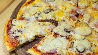 ДОМАШНЯЯ ПИЦЦА РЕЦЕПТ НА ТОНКОМ ТЕСТЕ \ Как приготовить пиццу дома \ Самый Простой рецепт пиццы