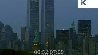 2000 New York Skyline, World Trade Center and Statue of Liberty, 35mm