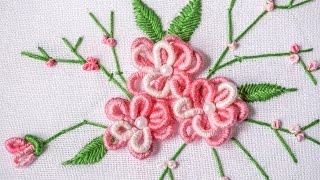 Repeat youtube video DIY Projects |  Hand Embroidery Design | HandiWorks #90