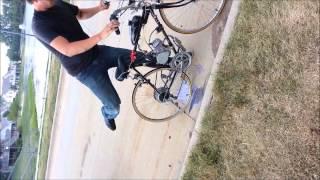 Motorized Bike Burnout Fail