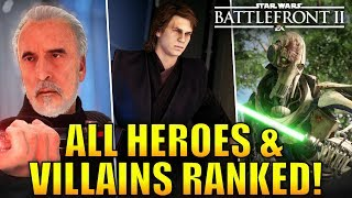 All Heroes and Villains Ranked from Worst to Best! - Star Wars Battlefront 2