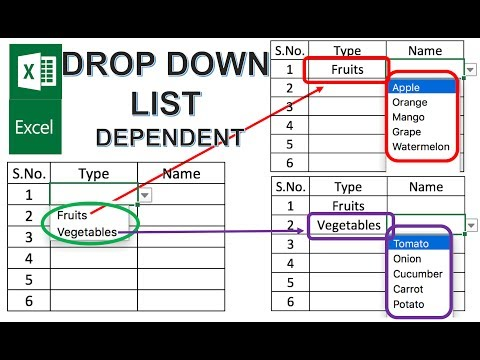 Excel Create Dependent Drop Down List Tutorial
