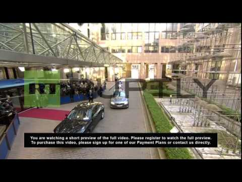 Belgium: Lady Ashton arrives for Ukraine crisis talks in Brussels