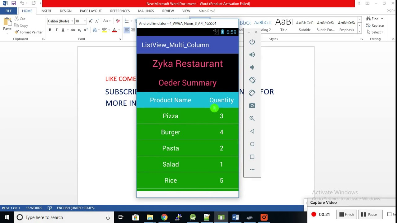 Android Multi Column ListView With Sticky Header Example