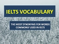IELTS Vocabulary band 8| SYNONYMS FOR WORDS COMMONLY USED IN IELTS