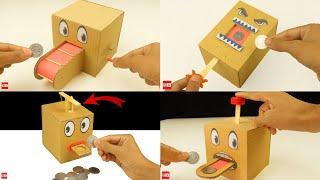 4 Amazing Coin Bank Box DIY at Home Compilation