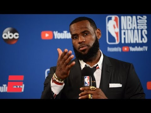 LeBron Walks Out Of Game 1 News Conference After Question About JR Smith's Blunder | 2018 NBA Finals
