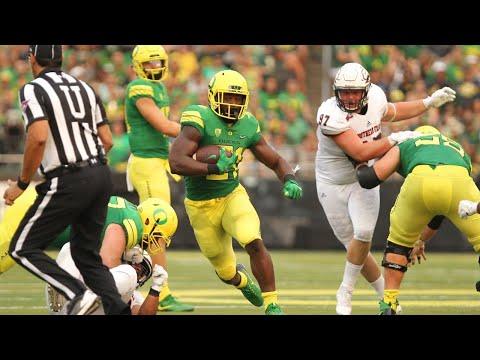 Highlights: Royce Freeman scores 4 touchdowns in Oregon football