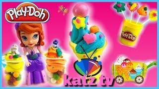 Play Doh Ice Cream auf Deutsch Eismaschine Prinzessin Sofia Eis aus Knete Selber Machen KATZ TV