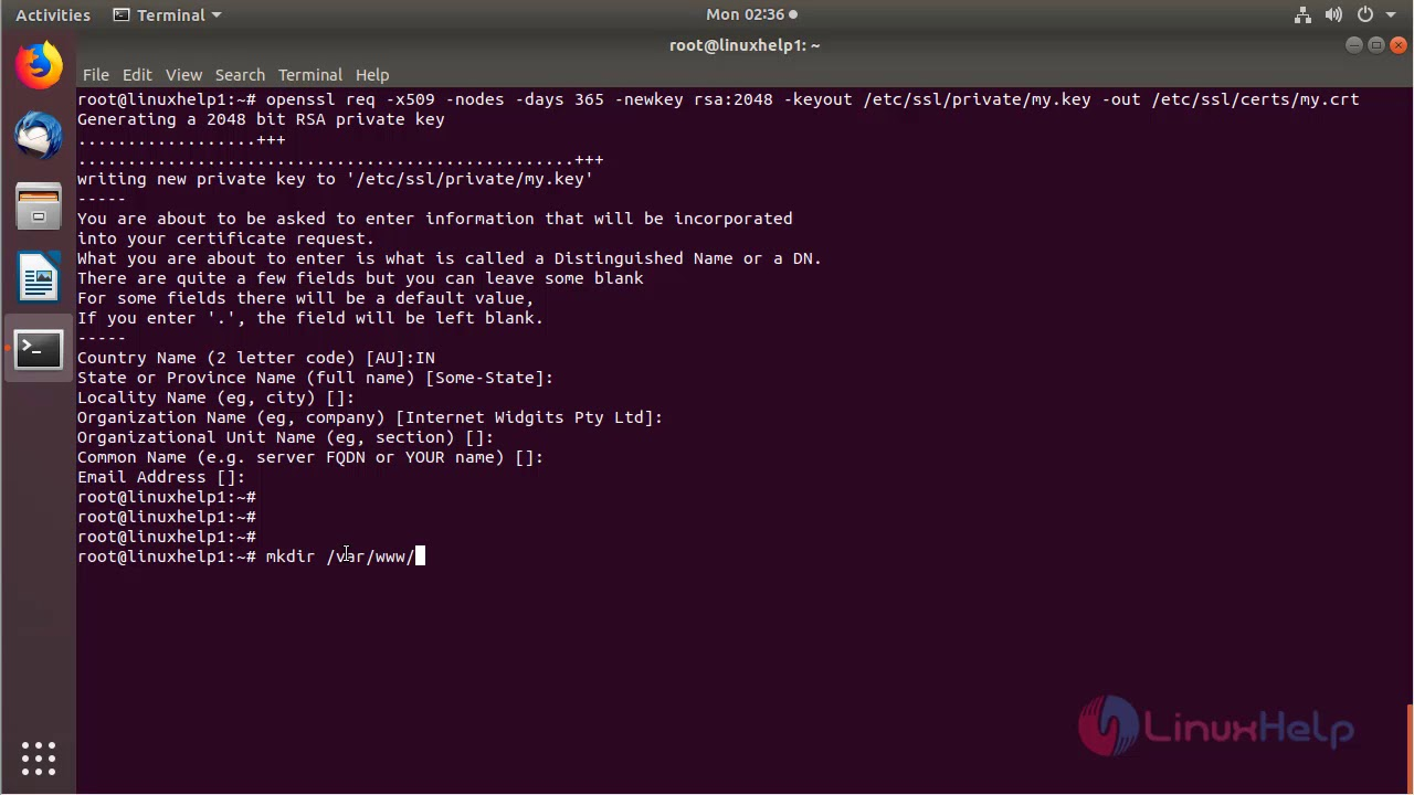 Installation Ssl Certificate On Ubuntulinuxmintdebian To Secure