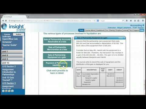 ACCB: Liquidation of a Partnership