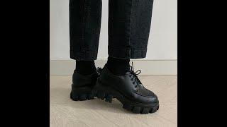 스프링 로하 청키 매니쉬 통굽 로퍼 (가보시3cm/굽높…