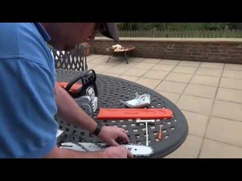 The stihl ms231 cbe chainsaw unboxing assembly and starting