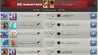 Great Fight BD Indomitable Back to War! Best TH12 War 3Star Attack Strategy 2019! Fair Play Clan War