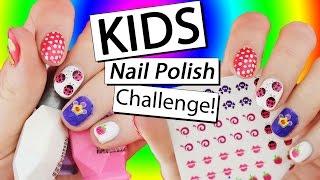 KIDS NAIL POLISH CHALLENGE || Nailed It NZ
