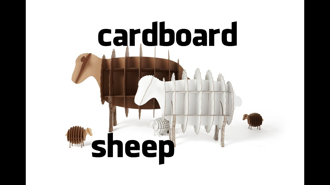 Cardboard sheep youtube for Cardboard sheep template