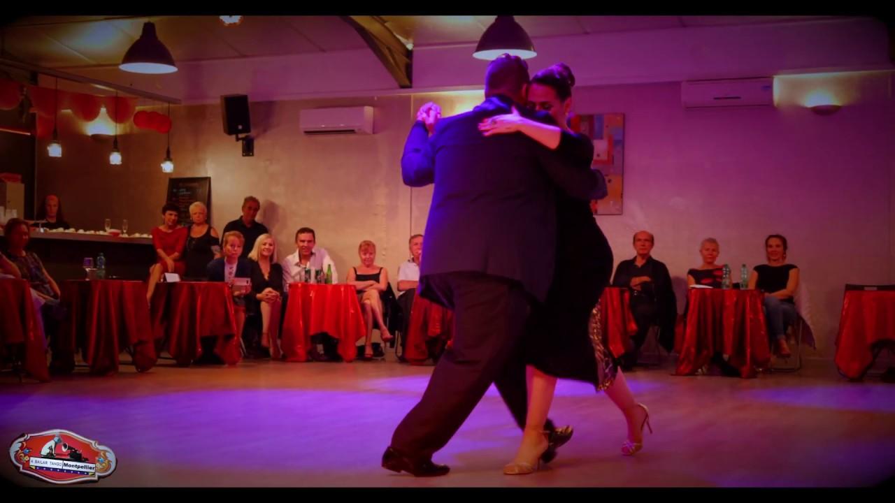 """Sebastian Bolivar & Cynthia Palacios """"Milonga de antaño"""" 3/4 El Salon de Tango Montpellier 2019"""