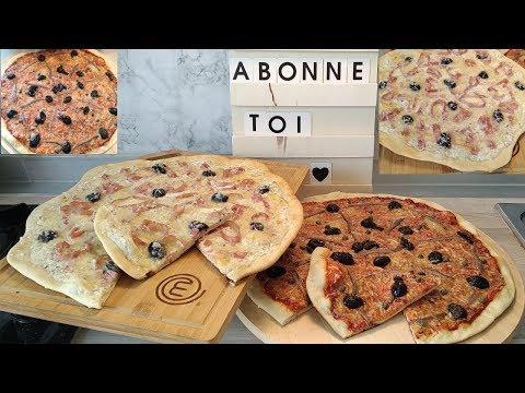 duo-de-pizza-🍕avec-ma-pâte-au-yaourt-😋👍