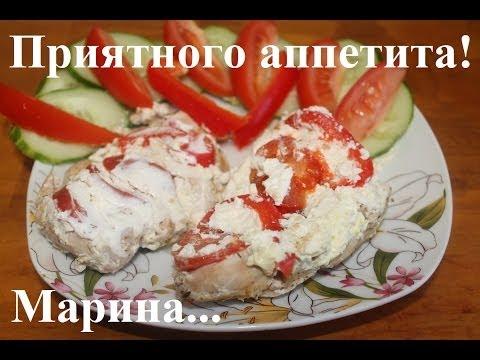 Куриная грудка в мультиварке с болгарским перцем