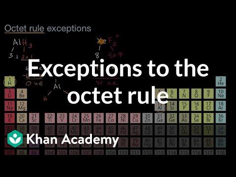 Lewis diagram octet rule exceptions