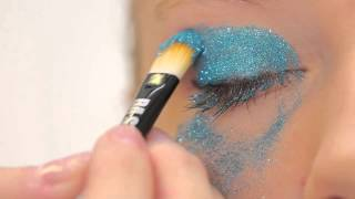 BA STAR 2 Color Glitter Eye- Turquoise & Silver Thumbnail