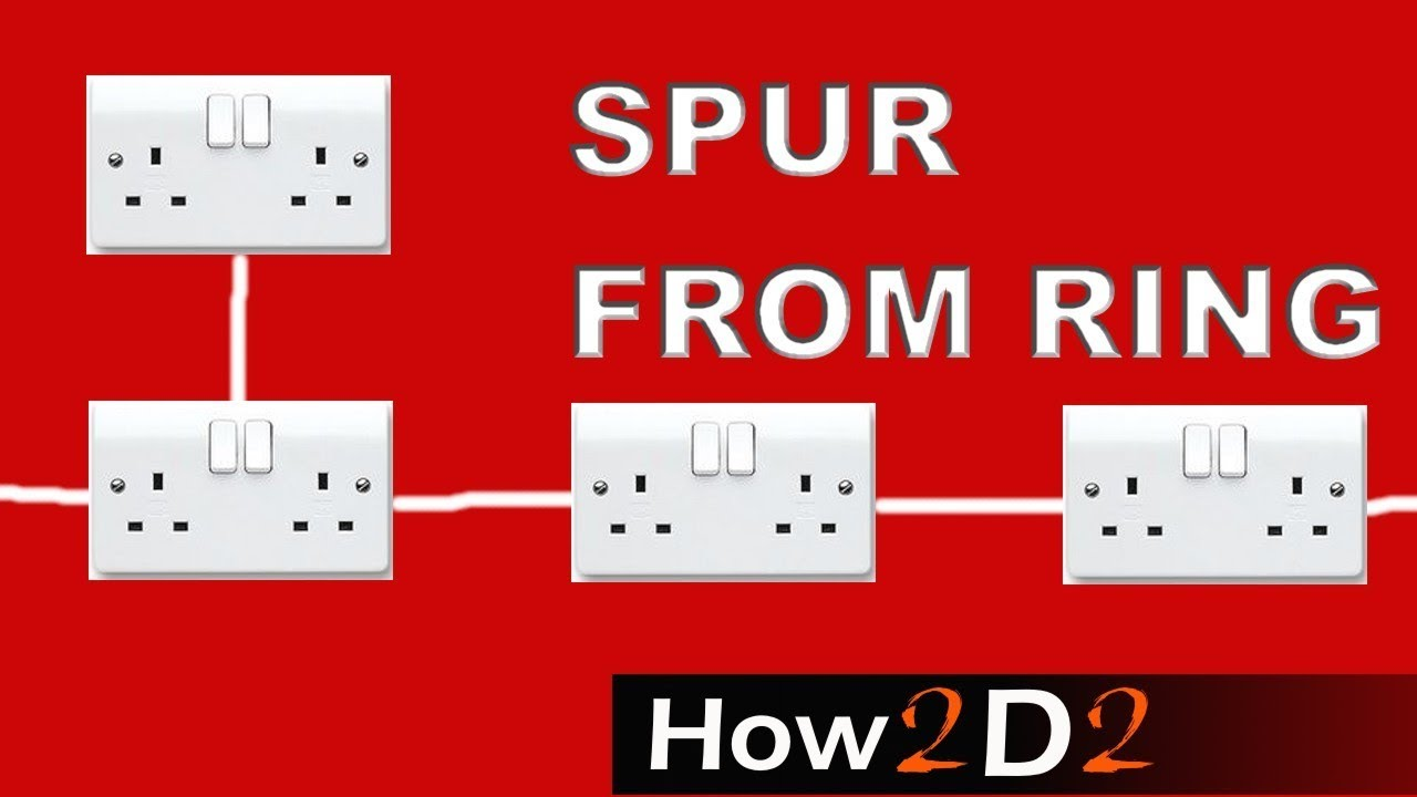 spur from ring circuit how to make a spur socket outlet