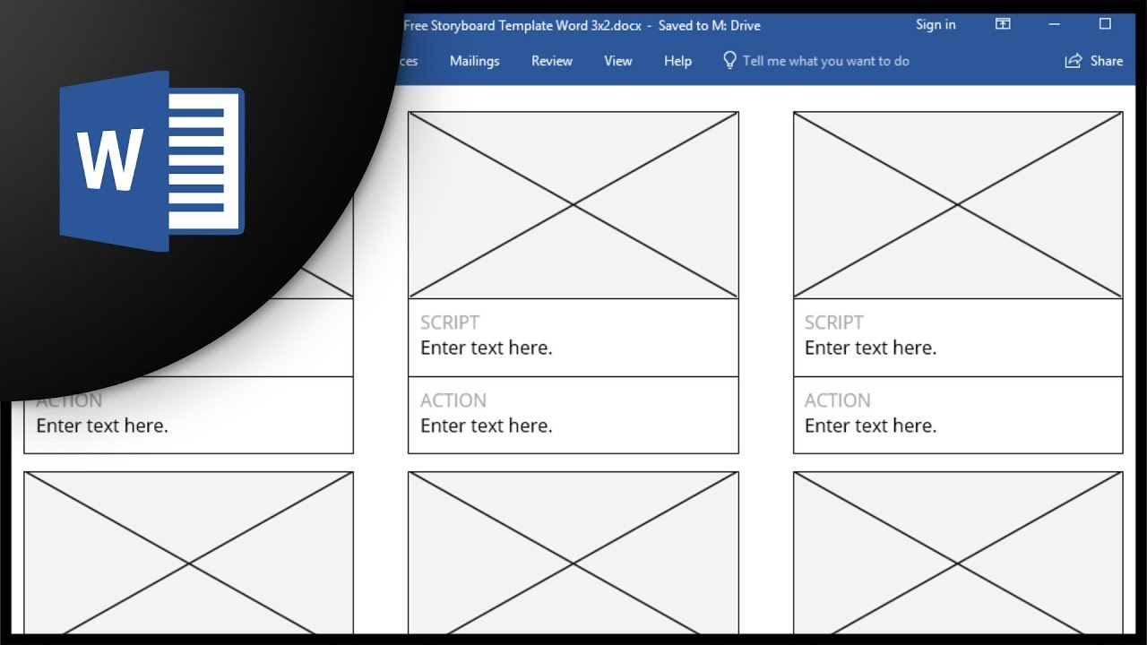Free Storyboard Templates For Microsoft Word Youtube