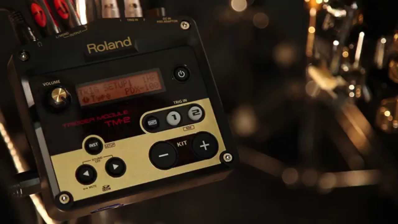 how to use the roland tm 2 trigger module youtube. Black Bedroom Furniture Sets. Home Design Ideas