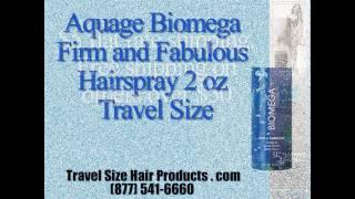 Aquage Biomega Firm and Fabulous Hairspray 2 oz Travel Size
