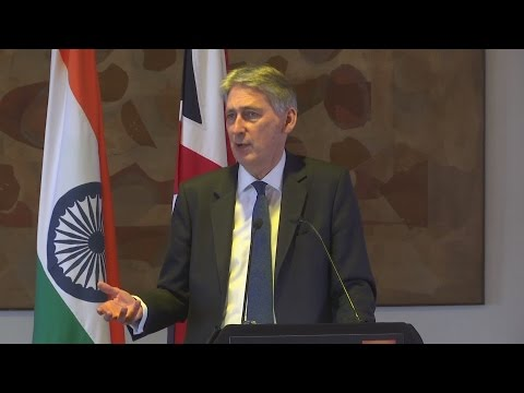 Chancellor Philip Hammond launches Indian trade mission