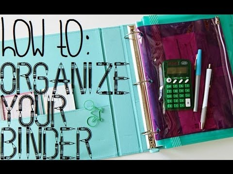 Back To School: Organizing Your Binder!