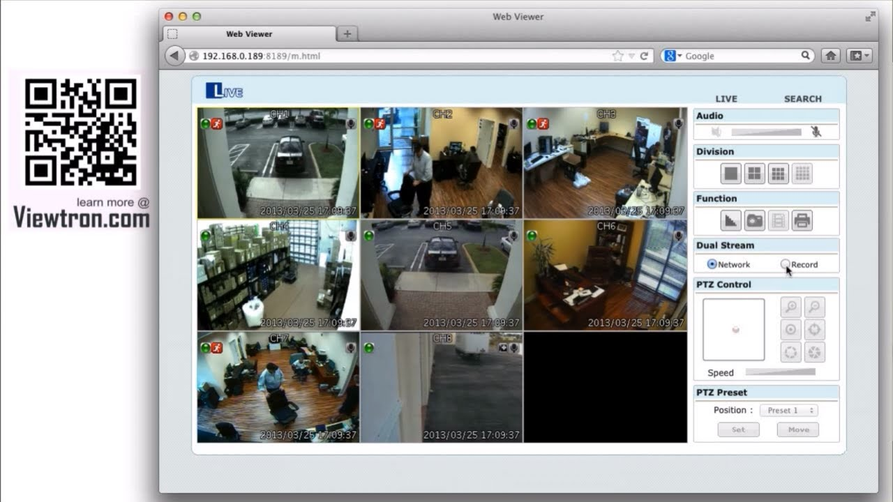 Mac HD Security Camera Viewer for Viewtron Surveillance DVR
