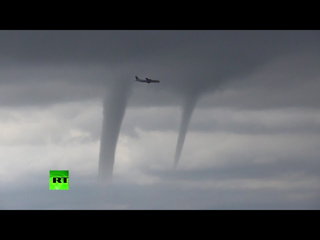 Plane dodges tornadoes in hair-raising landing in Sochi, Russia