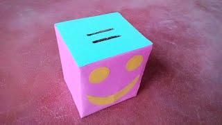how to make a piggy bank from cardboard  गुल्लक कैसे बनाएं