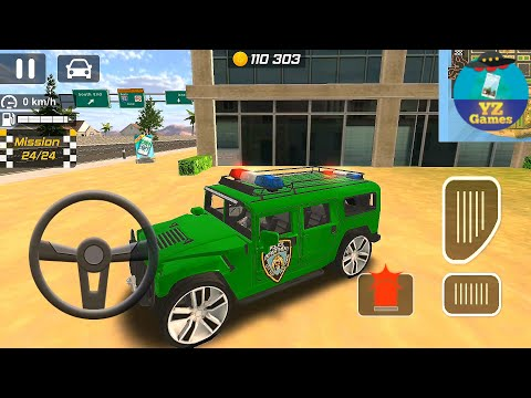 Police Drift Car Driving Simulator (Luxury Hummer Police 755) #yz Android GamePlay FHD 32