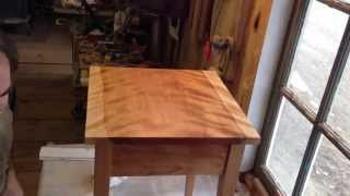 Finishing Shaker End Table - Custom Vermont Furniture From Hawk Ridge Furniture