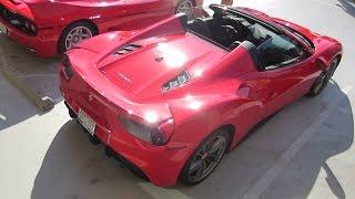 Ferrari 488 Spider (w/ startup, short drive)