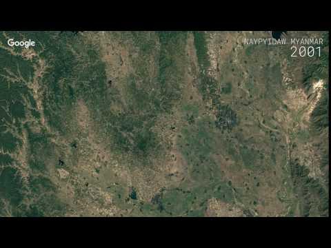 Google Timelapse: Naypyidaw, Myanmar