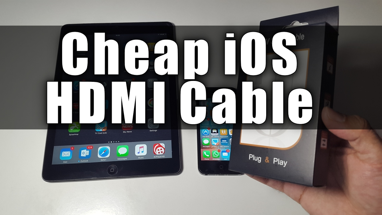 cheap lightning digital av hdmi cable for iphone ipads
