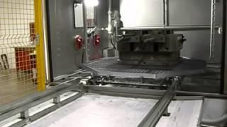 Lavadora industrial para limpieza de moldes y piezas de grandes dimensiones