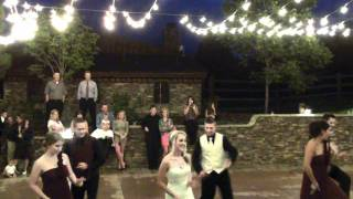 Bride and Groom first dance gone wild.MP4