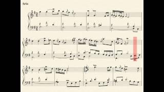 01 Aria Goldberg Variations (J.S. Bach) complete with score. Kimiko Ishizaka, piano.