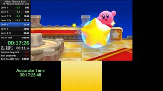 Kirby's Blowout Blast - All Platinum Trophies Speedrun in 1:04:59 (WR)