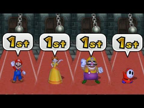 Mario Party 9 Garden Battle - Mario vs Daisy vs Wario vs Shy Guy| Cartoons Mee