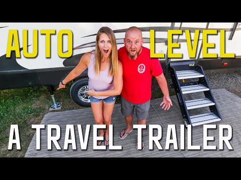 AUTO LEVELING ON A TRAVEL TRAILER | RV UPGRADE PROS AND CONS | LIPPERT AXLE & DISC BRAKES S3 || Ep43