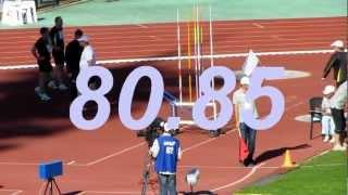Javelin Men Final (54rd Memorial Znamensky, Zhukovsky, 2012)