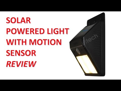 Solar Powered Light With Motion Sensor Review