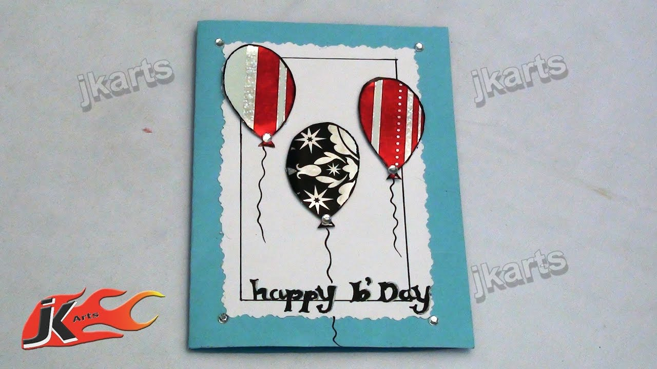 Papercraft DIY How to make Birthday Greeting Card - JK Arts 152