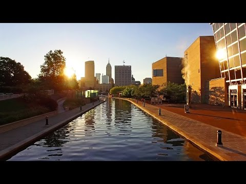 Indianapolis Canal Downtown in 4K